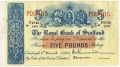 Royal Bank Of Scotland To 1967 5 Pounds,  1. 3.1950