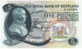 Royal Bank Of Scotland To 1967 5 Pounds,  1.11.1966