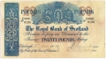 Royal Bank Of Scotland To 1967 20 Pounds,  1. 6.1944