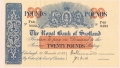 Royal Bank Of Scotland To 1967 20 Pounds,  1.12.1952