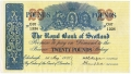 Royal Bank Of Scotland To 1967 20 Pounds,  1. 5.1957
