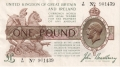 Treasury 1 Pound, from 1917