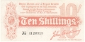 Treasury 10 Shillings, from 1914