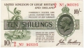 Treasury 10 Shillings, from 1918