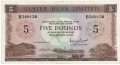 Ulster Bank Ltd 5 Pounds, 15. 2.1971