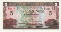 Ulster Bank Ltd 5 Pounds,  1. 7.1998