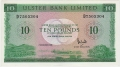 Ulster Bank Ltd 10 Pounds,  1.12.1989