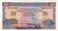 Ulster Bank Ltd 20 Pounds,  1.11.1990
