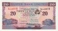 Ulster Bank Ltd 20 Pounds,  1. 1.1996