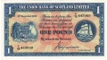 Union Bank Of Scotland Ltd 1 Pound,  1. 3.1949