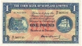 Union Bank Of Scotland Ltd 1 Pound,  1. 6.1954