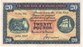 Union Bank Of Scotland Ltd 20 Pounds,  1. 9.1950