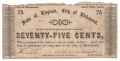 USA Colonial And Broken Banks 75 Cents, 14. 4.1862