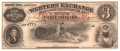 USA Colonial And Broken Banks 3 Dollars,  2.11.1857