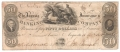 USA Colonial And Broken Banks 50 Dollars, 16.10.1836