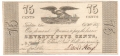 USA Colonial And Broken Banks Tarleton, Ohio,  75 Cents, 20.10.1837