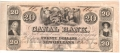 USA Colonial And Broken Banks Canal Bank, 20 Dollars, 18 - -