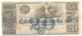 USA Colonial And Broken Banks New Orleans Canal & Banking Co.  20 Dollars, 18 - -