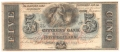 USA Colonial And Broken Banks The Citizens' Bank of Louisiana,  5 Dollars, 18 - -