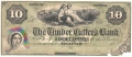 USA Colonial And Broken Banks The Timber Cutter's Bank, Savannah,  10 Dollars,