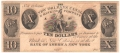 USA Colonial And Broken Banks New Orleans Canal & Banking Co. 10 Dollars, 18 - -
