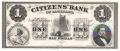 USA Colonial And Broken Banks The Citizens' Bank of Louisiana,  1 Dollar, 18 - -