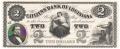 USA Colonial And Broken Banks The Citizens' Bank of Louisiana,  2 Dollars, 18 - -