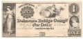 USA Colonial And Broken Banks Delaware Bridge Company,  1 Dollar, 18 - -