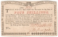 USA Colonial And Broken Banks New York Water Works, 4 Shillings,  2. 8.1775