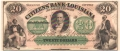 USA Colonial And Broken Banks The Citizens' Bank of Louisiana, 20 Dollars, 18 - -