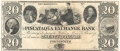 USA Colonial And Broken Banks The Piscataqua Exchange Bank, 20 Dollars, 18 - -