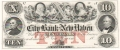 USA Colonial And Broken Banks The City Bank of New Haven, 10 Dollars, 18 - -