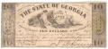 USA Colonial And Broken Banks The State of Georgia,  10 Dollars,  6. 4.1864