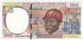 CentralAfricanStates 5000 Francs, 1997