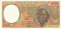 CentralAfricanStates 2000 Francs, 1993