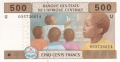CentralAfricanStates 500 Francs, 2002-