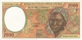 CentralAfricanStates 2000 Francs, 1999