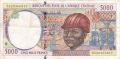 CentralAfricanStates 5000 Francs, 1995