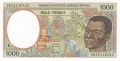CentralAfricanStates 1000 Francs, 2000