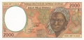 CentralAfricanStates 2000 Francs, 2000