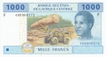CentralAfricanStates 1000 Francs, 2002