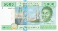 CentralAfricanStates 5000 Francs, 2002