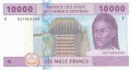 CentralAfricanStates 10,000 Francs, 2002