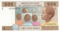 CentralAfricanStates 500 Francs, 2002
