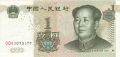 China - Peoples Republic 1 Yuan, 1999