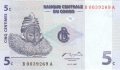 Congo Democratic Republic 5 Centimes,  1.11.1997