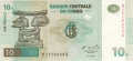 Congo Democratic Republic 10 Francs,  1.11.1997