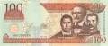 Dominican Republic 100 Pesos, 2002