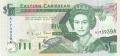 East Caribbean 5 Dollars, (1993)