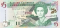 East Caribbean 5 Dollars, (2000)